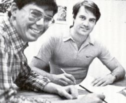 "Brent Anderson (left) and Bruce Jones ""back in the day"""