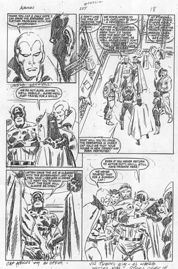 AVENGERS full pencils from Buscema from the 1980s