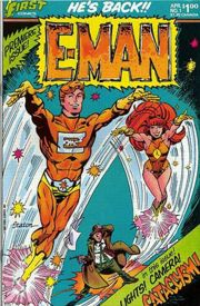 First's E-man #1 cover by Joe Staton