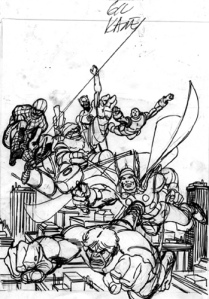 A Gil Kane rough from GIANT SIZE MARVEL