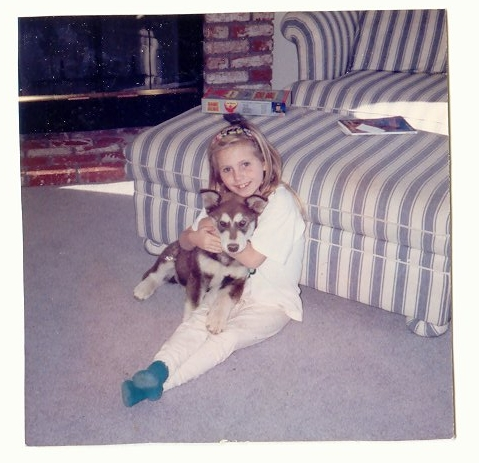 Two of my loves: My daughter Maggie and my dog Roxy (from 1994)