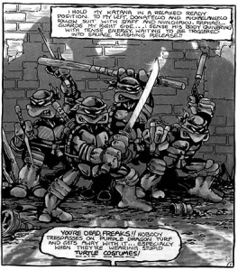 Panel from Page 1 of TURTLES #1