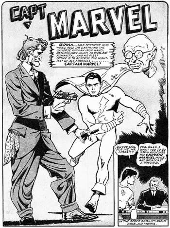 Capt. Marvel page by George Tuska