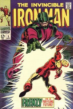George Tuska cover on his first IRON MAN issue (#5)