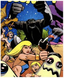 Igoo (center) and The Herculoids