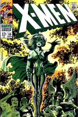 Lorna Dane featured on X-Men #50 cover