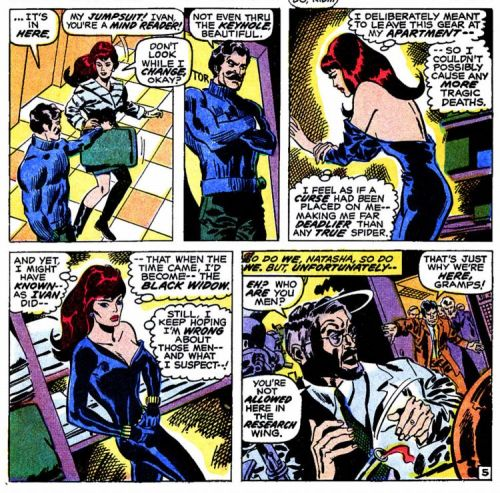 Natasha changes clothes by Don Heck