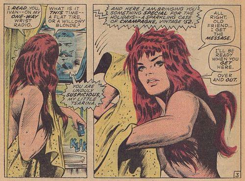 Natasha in the Shower by Gene Colan
