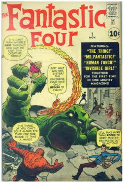 "Kirby's cover for FF#1. Perhaps the most ""swiped"" cover design EVER!"