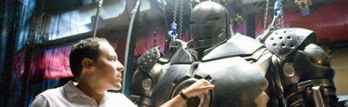 Jon Favreau and an iron man