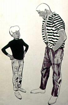 Jonny & Race character designs by Doug Wildey