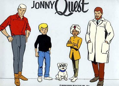 Quest cast promo model sheet